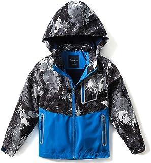 SaphiRose Kids Waterproof Rain Coat Jacket with Pockets