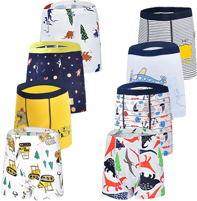JackLoveBriefs Boys Cotton Boxer Brief Underwear (Pack of 8)