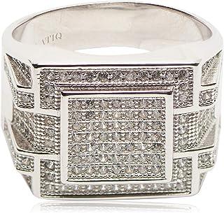 Atiq Mens 925 Sterling Silver Fashion Ring - RH0208-SR-9, Color Silver, Size 9