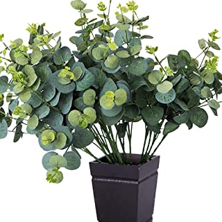 TRvancat Faux Eucalyptus Leaves- 4 Pcs Total 20 Stems Artificial Greenery Fake Plants for Wedding Home Party Decor(20 inch Tall)