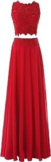 Pretygirl Women's Two Piece Lace Evening Dress Long Prom Dress Bridesmaid Dress