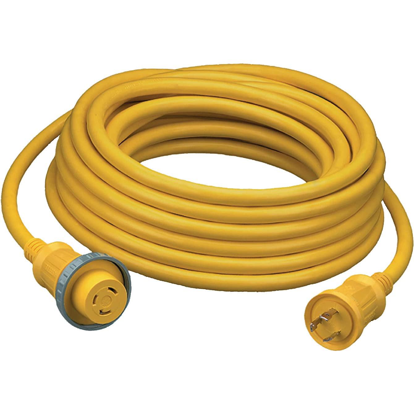 Hubbell HBL61CM03 Marine Cable, 25', 30 amp, 125V, Yellow (Pack of 1)