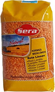 Sponsored Ad - Sera Split Red Lentils, Superfood, Ancient Grains, 100% All-Natural, No Additives, No Preservatives, Great ...