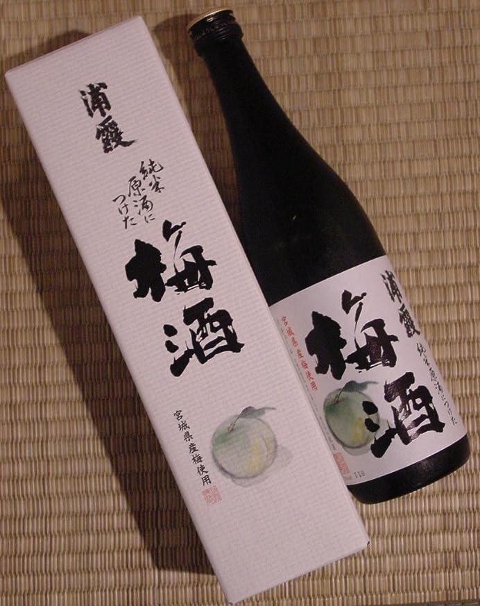 雄弁なうれしい天使【数量限定】 浦霞 純米原酒につけた梅酒720ml 箱入(要冷蔵商品)