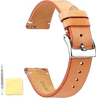 BINLUN Bracelets de Montre en Cuir véritable Bracelets de Montre en Cuir à libération Rapide pour Hommes Femmes 12mm 14mm ...