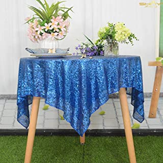 Royal Blue Sequin Tablecloth Rectangle 48x48-Inch Sequin Table Cover Sequence Table Cloth