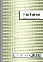 EXACOMPTA - 1 Manifold Factures Avec Mention TVA 21X14,8 cm - 50 Feuillets