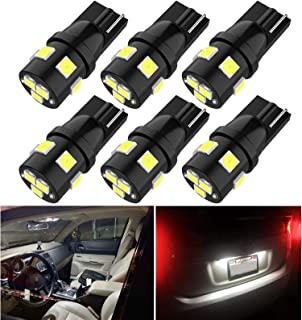194 Led Car Bulbs Super Bright T10 Wedge 168 2825 175 Bulbs for License Plate Lights Interior Map Dome Courtesy Cargo Ligh...
