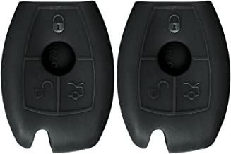 Keyless2Go New Silicone Cover Protective Case for Remote Key with FCC IYZDC07 - Black - (2 Pack)