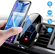 Wireless Car Charger Mount, Mikikin Auto-Clamping Qi 10W 7.5W Fast Charging Car Phone..