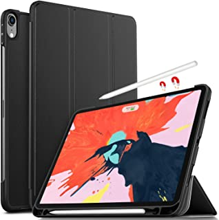 Luibor Apple iPad Pro 11 2018 Estuche - Cubierta Elegante y Delgado Estuche de Piel Ultra Ligero Estuche para Apple iPad Pro 11 2018 Tableta (Negro)
