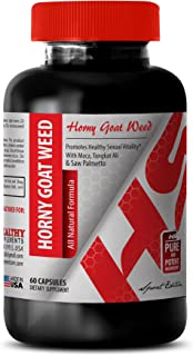 Horny Goat Weed for Men Sex Drive - Horny Goat Weed All Natural Formula 1560 MG - Increase Energy (1 Bottle)