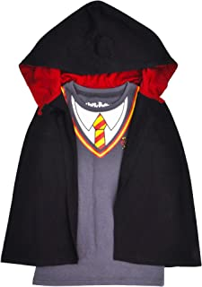 HARRY POTTER Girl's T-Shirt & Hooded Cloak Gryffindor Hermione Costume Ages 4-8