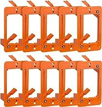 Cmple - Low Voltage Mounting Bracket 1 Gang Multipurpose Drywall Mounting Wall Plate Bracket – (Single Gang, 10 Pack)