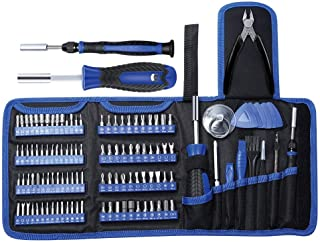 E·Durable Electronic Repair kit Professional 118 in 1 Precision Screwdriver Set with 100 Bits Magnetics Repair Tool Kits for Game Console, Tablet, PC, Macbook, Watches, Camera, ETC