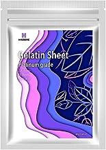 Haodong Beef Leaf Gelatin Sheets - Platinum Gelatin Leaves 20 Sheets (40g) 230Bloom for Baking Mousse Mirror Glaze Dessert...