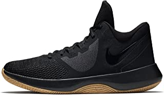 Nike Mens AIR Precision 2 Black Black Gum Light Brown Size 11.5