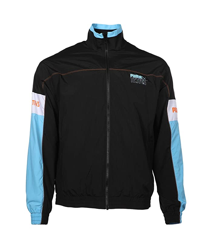 80s Windbreakers, Jackets, Coats PUMA Puma x Tetris Track Jacket PUMA Black Mens Clothing $43.40 AT vintagedancer.com