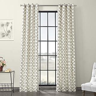 HPD Half Price Drapes PRCT-D02-96-GR Grommet Printed Cotton Curtain (1 Panel), 50 X 96,..