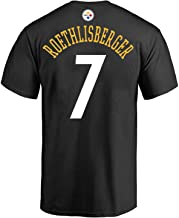Outerstuff Ben Roethlisberger Pittsburgh Steelers #7 Black Youth Performance Name & Number Shirt (X-Large 18/20)
