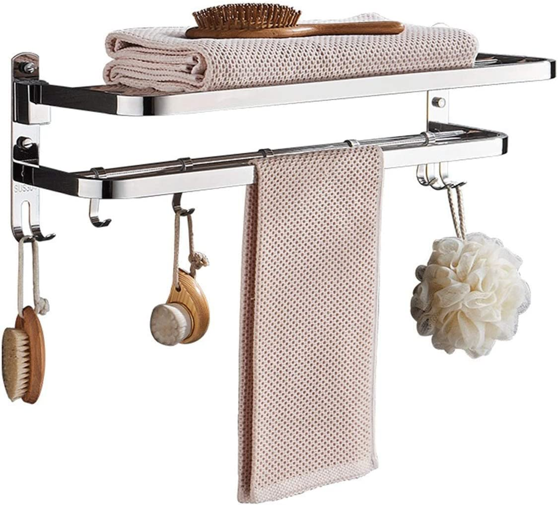 LSNLNN Towel Shelf Rack Bathroom Factory outlet 304 Stainless At the price of surprise Stee