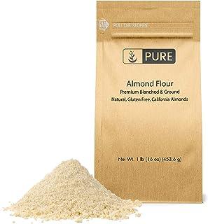 PURE Almond Flour (1 lb. (16 oz.)), Paleo & Keto Friendly, Gluten-Free, Vegan, Product of California, Blanched Almonds