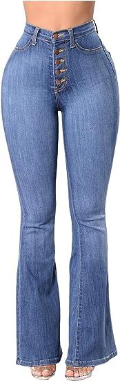 Linkshow Silm Hip Up Pantalones De Mezclilla Acampanados Para Mujer Amazon Com Mx Ropa Zapatos Y Accesorios