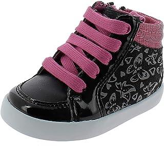 حذاء رياضي قماشي عالي الجودة من Geox Girls GISLI للفتيات، أسود/وردي، مقاس 20 M EU للأطفال الصغار (4. 5 أمريكي)