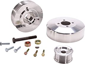 BBK 15550 Underdrive Performance Pulley Kit - CNC Machined Aluminum 8-Rib for Ford F Series Truck, Expedition 4.6L, 5.4L - 3 Piece