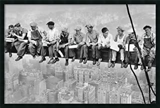 Framed Wall Art Print Lunch on a Skyscraper, 1932 by Charles C. Ebbets 37.25 x 25.25