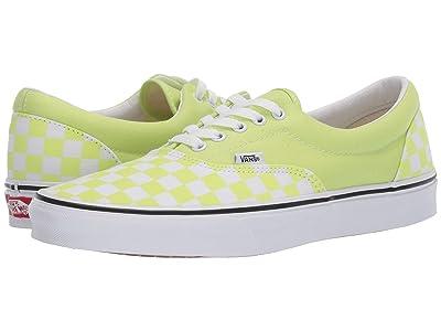 Vans Eratm ((Checkerboard) Sharp Green/True White) Skate Shoes