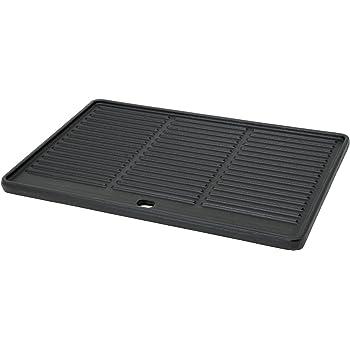 /Plaque /à grillades massive /émaill/ée BBQ de Toro c/ôtel/ée et lisse 44/x 24,5/cm/ Plaque de grill pour barbecue en fonte r/éversible.