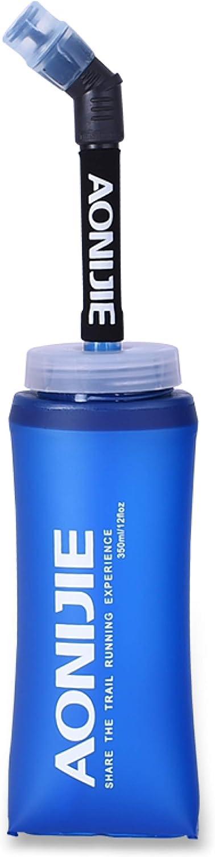 TRIWONDER Soft Flask TPU Botella de Hidratación Plegable Sin Fugas Bolsa para Mochila de Hidratación Cinturón Correr Ciclismo Maratón Senderismo