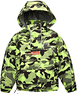 Wantdo Boy's Girl's Hooded Waterproof Rain Jacket Raincoat Spring Fall Outwear
