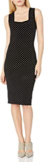 MILLY womens Micro Dot Fitted Dress Casual Night Out Dress