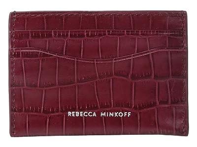 Rebecca Minkoff Card Case (Pinot Noir) Wallet