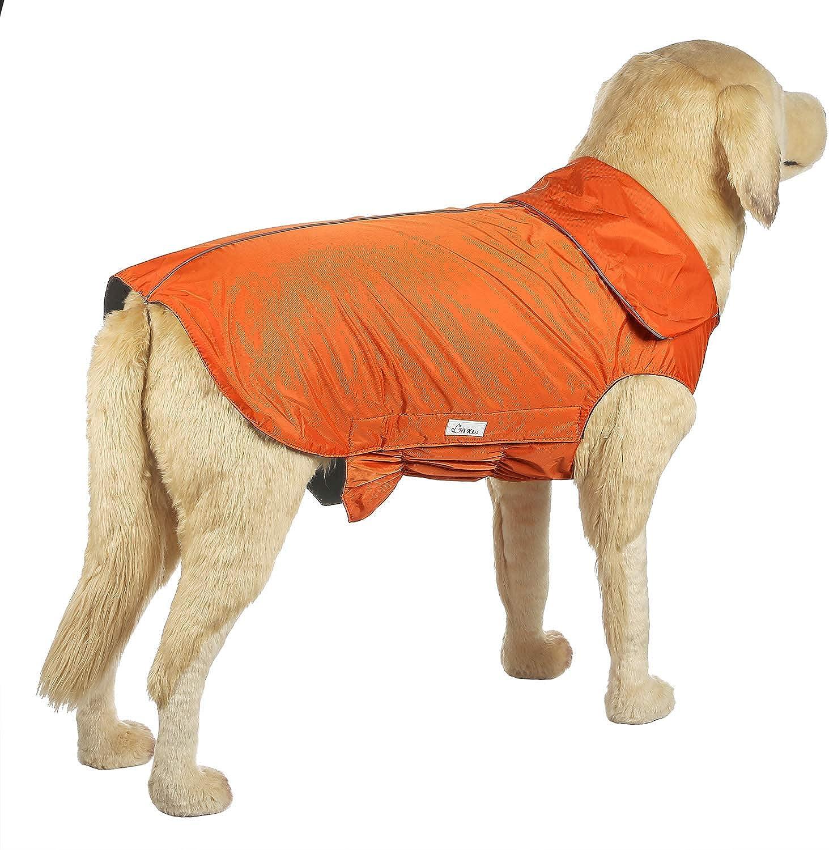 Hi Kiss Dog Coat Jacket Padded Vest Ski Suit Large Dogs in Cold Weatherorange 4XL