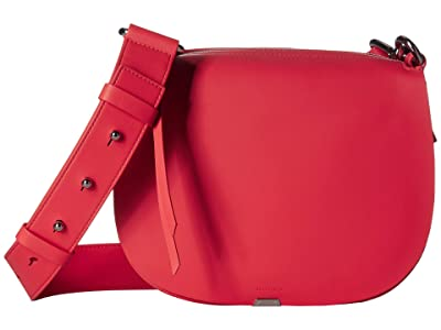 AllSaints Captain Round Crossbody (Coral Pink) Bags