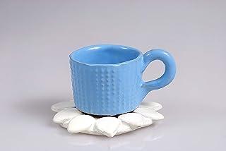 tazze da latte e caffè con piattino