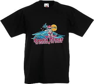 Camiseta para Niño/Niña Papá Noel Surf al Pueblo, Camisa de Baile de
