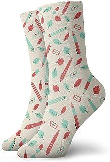 Elsaone, Equipo de calcetines con hoja de tableta de lápiz para hombres, mujeres, niños, trekking, rendimiento, exteriores 30 cm (11.8 pulgadas)