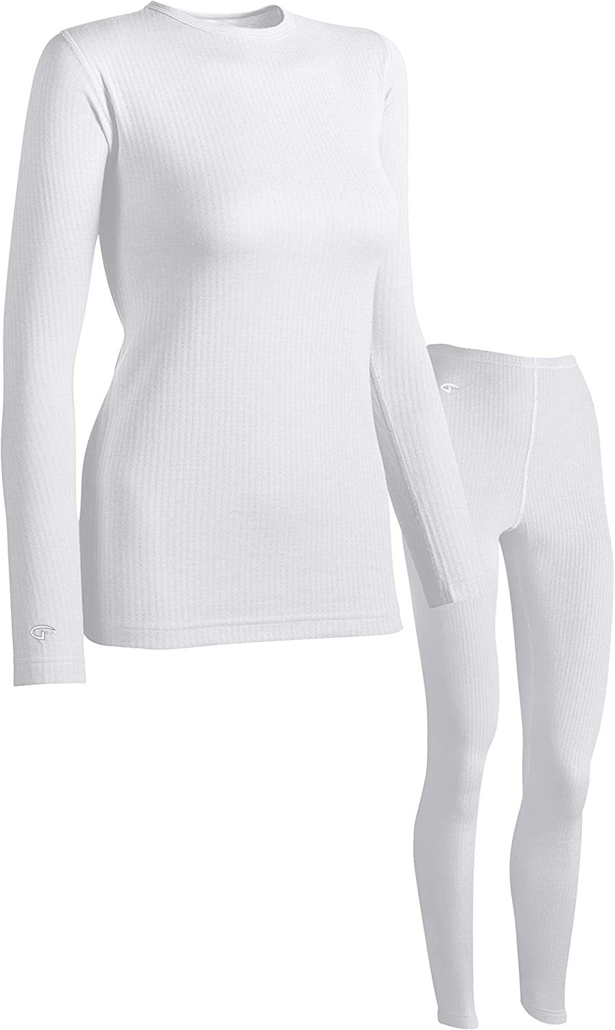 Womens Long Johns Base Layer Thermal top and Leggings Underwear Set