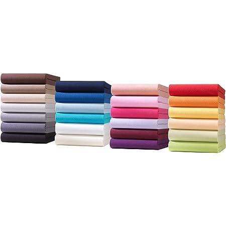 Drap Enfant en Jersey Drap-Housse | Drap bébé en Jersey 100% Coton | ÖKO-TEX Standard 100 | 60 x 120 cm à 70 x 140 cm en Violet