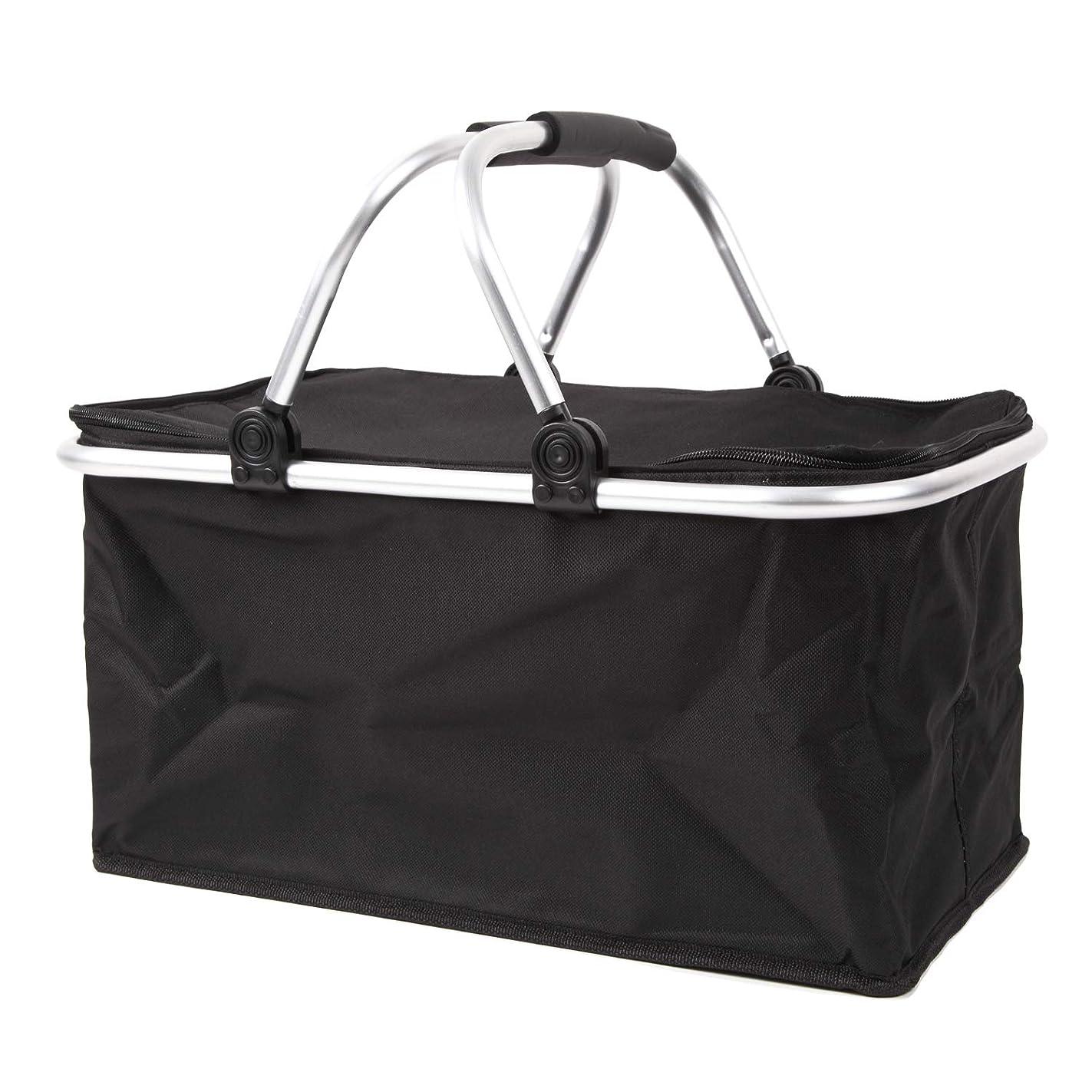 アリーナ限りなく巻き取り[スプレンノ] クーラーバスケット 28L 折り畳み 大容量バッグ ピクニックかご 保温 保冷 コンパクト収納