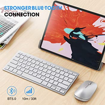 Wireless Keyboard and Mouse for iPad (iPadOS 13 and Above), SPARIN Keyboard and Mouse Compatible with iPad 8th Genera...