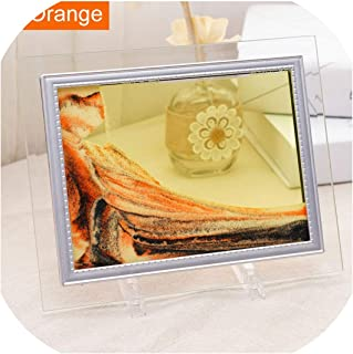 Anges-Store Liquid Sand Frame Landscape Picture Moving Glass Frame Changeable Painting Photo Ornaments Home Office Decor,Yellow,10 inch(25X30cm)