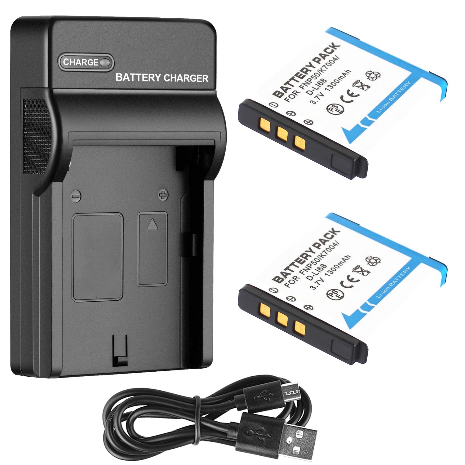 Amazon Com Battery 2 Pack And Usb Travel Charger For Fujifilm Finepix F300exr F305exr F500exr F505exr F550exr Digital Camera Camera Photo