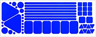 LiteMark Reflective Variety Pack of Sticker Decals for Helmets, Bicycles, Strollers, Wheelchairs and More - 51 Total (Assorted Shapes and Sizes)