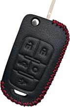 Coolbestda Leather Folding 5buttons Key Fob Remote Cover Keyless Entry Protector Holder Case for Chevrolet Equinox Camaro Cruze Malibu Sonic Buick Lacrosse Verano Encore