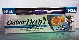DABUR Herbal Whitening Toothpaste, 150 gm + Brush